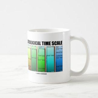 Escala de tiempo geológica edad geológica tazas de café
