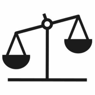 Escala del peso y de la balanza fotoescultura vertical