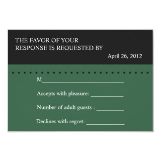 Escala del verde de la justicia, tarjeta de RSVP Invitación 8,9 X 12,7 Cm