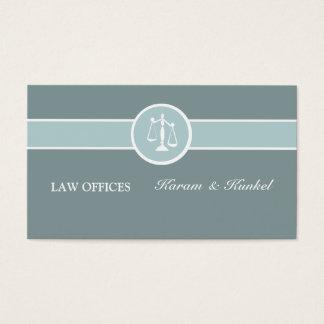 Escala legal del abogado criminal de la corte de tarjetas de visita