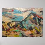 Escala up2 de la montaña del color de DSCN9756 S S Poster