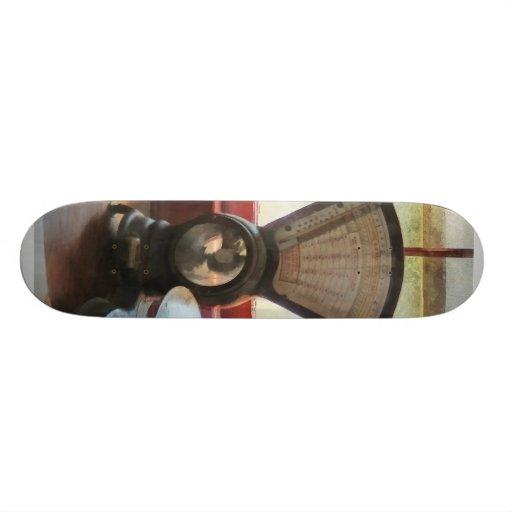 Escala y sellos de goma postales skate board