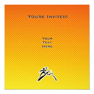 "Escalada amarillo-naranja invitación 5.25"" x 5.25"""