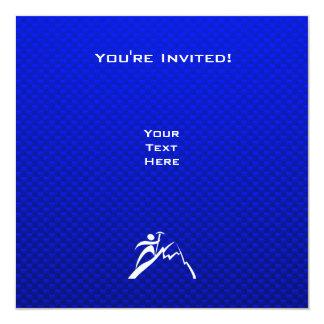"""Escalada azul invitación 5.25"""" x 5.25"""""""