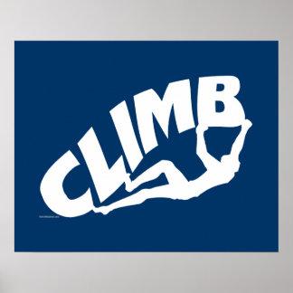 Escalada Bouldering Póster