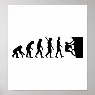 Escalada de la evolución póster