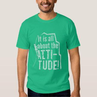 Escalada del Grunge de la actitud o de la altitud Camisas