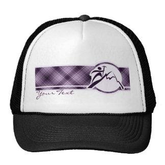 Escalada púrpura gorros bordados
