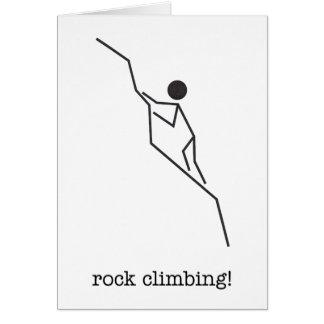 ¡escalada! tarjeta de nota