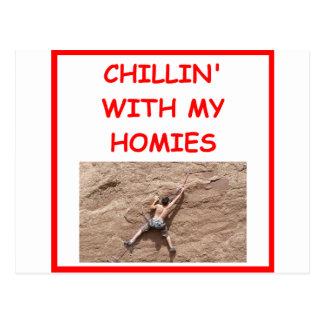 escalador de roca climbiing tarjetas postales