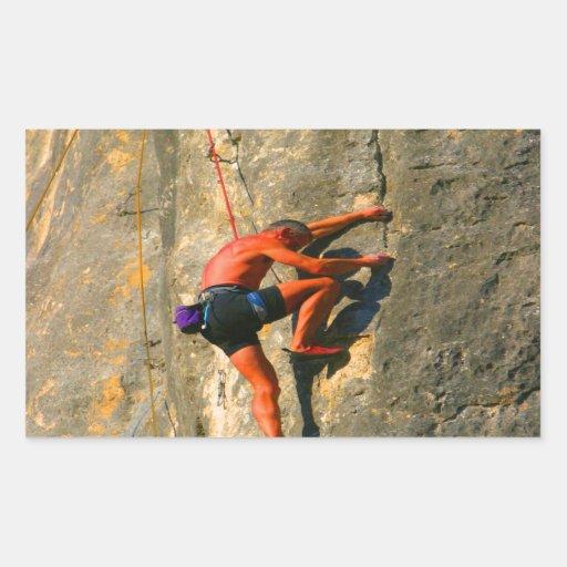 escalador de roca el desafiar y de los succerss rectangular altavoces