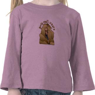 Escalador de roca ligero del chica camiseta