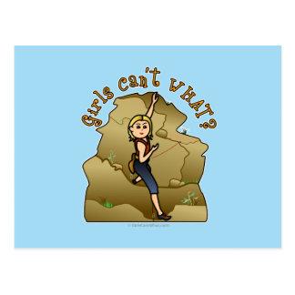 Escalador de roca ligero del chica postal