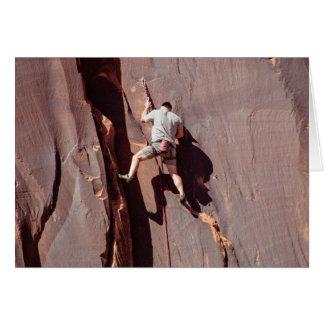 Escalador de roca tarjeta de felicitación