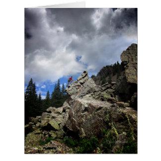 Escalador - desierto de Weminuche - Colorado Tarjeta De Felicitación Grande