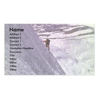 Escalador en la cara del sur de Annapurna, 5800 me Plantilla De Tarjeta Personal