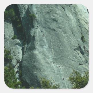 Escaladores de roca en el pegatina del EL Capitan