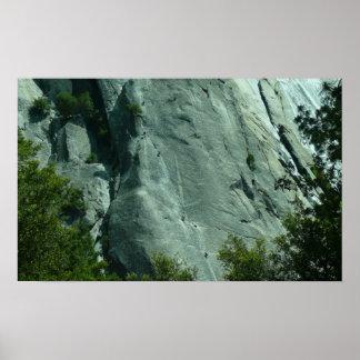Escaladores de roca en la impresión del EL Capitan Póster