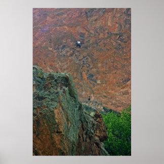 Escaladores de roca póster