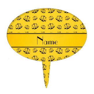 Escalas amarillas conocidas personalizadas de la figuras de tarta