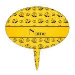 Escalas amarillas conocidas personalizadas de la j figuras para tartas
