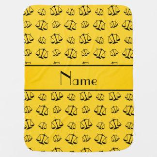 Escalas amarillas conocidas personalizadas de la mantas de bebé