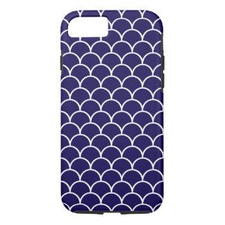 Escalas azul marino del dragón funda iPhone 7