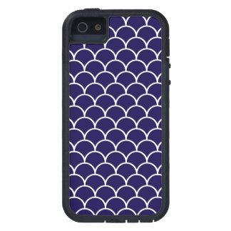 Escalas azul marino del dragón funda iPhone SE/5/5s