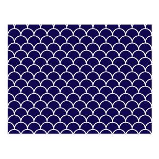 Escalas azul marino del dragón postales