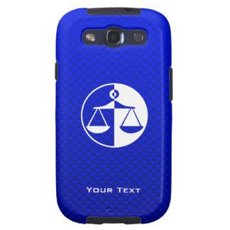 Escalas azules de la justicia samsung galaxy s3 cárcasas