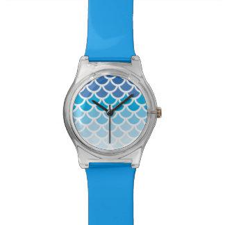 Escalas azules de la sirena de Ombre Reloj