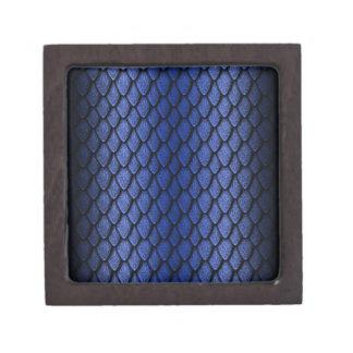 Escalas azules del dragón caja de recuerdo de calidad