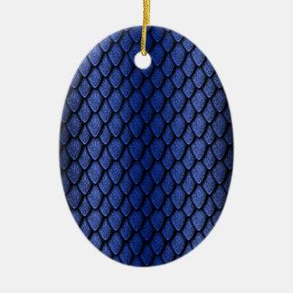 Escalas azules del dragón ornamente de reyes