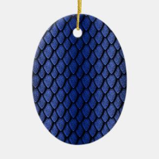 Escalas azules del dragón ornato