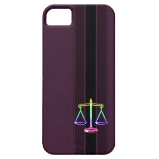 Escalas coloridas de la ley de la justicia el   iPhone 5 fundas