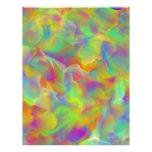 Escalas coloridas de la pizarra del arco iris plantilla de membrete
