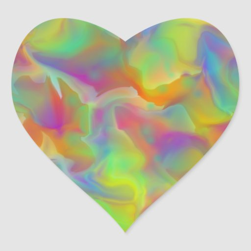 Escalas coloridas de la pizarra del arco iris pegatina en forma de corazón