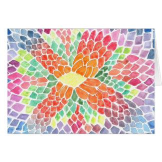 Escalas coloridas - diseño abstracto vivo de la ac felicitaciones