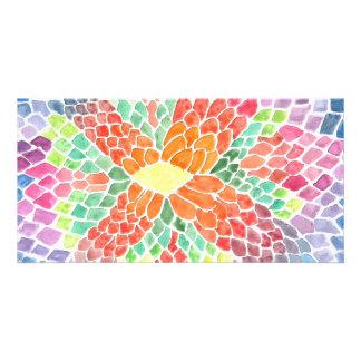Escalas coloridas - diseño abstracto vivo de la ac tarjeta fotográfica