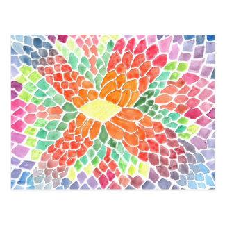 Escalas coloridas - diseño abstracto vivo de la ac tarjeta postal