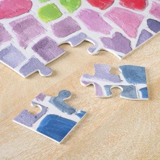 Escalas coloridas - diseño abstracto vivo de la rompecabezas con fotos
