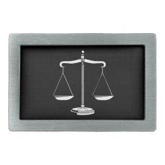 Escalas con clase de la justicia hebilla cinturón rectangular