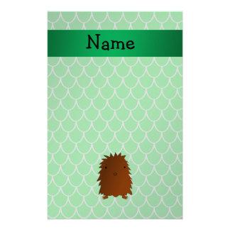 Escalas conocidas personalizadas del dragón verde  papelería