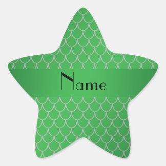 Escalas conocidas personalizadas del dragón verde calcomanías forma de estrellas personalizadas