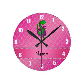 Escalas conocidas personalizadas del rosa del drag reloj de pared