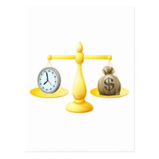 Escalas de la balanza del dinero del tiempo