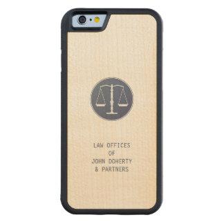 Escalas de la justicia funda de iPhone 6 bumper arce