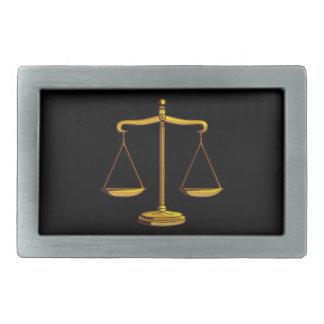 Escalas de la justicia - correa Bucklet Hebilla Cinturon Rectangular