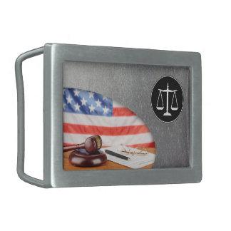 Escalas de la justicia - correa Bucklet Hebillas De Cinturon Rectangulares