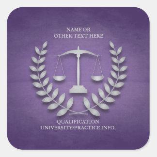 Escalas de la justicia del colegio de abogados el pegatinas cuadradases